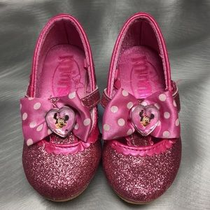Minnie Mouse Glittery Pink Shoes